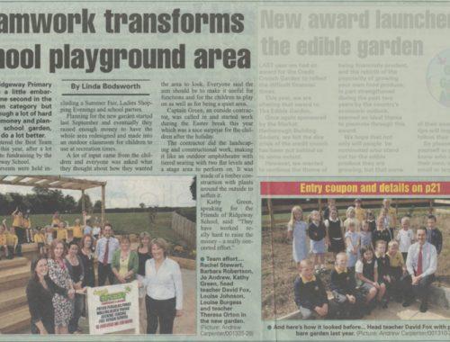 Ridgeway playground landscaping